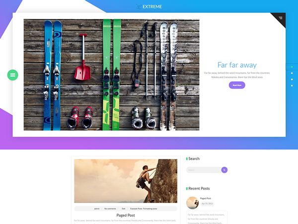 Extreme Free WordPress Theme