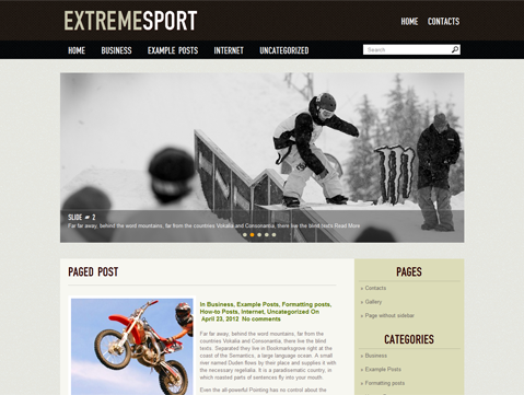 ExtremeSport WordPress Theme