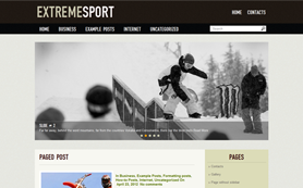 ExtremeSport Free WordPress Theme