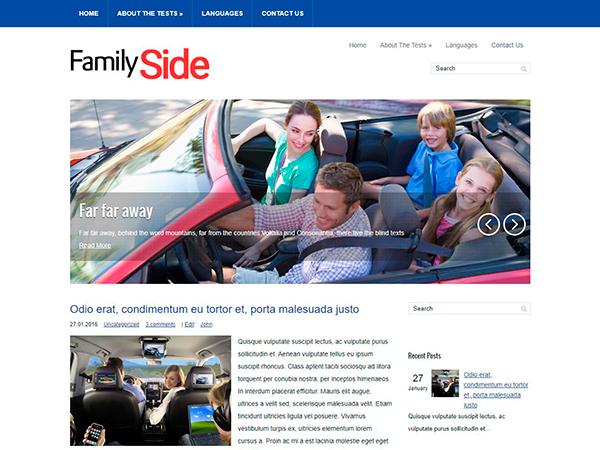 FamilySide Free WordPress Theme