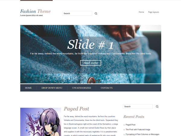 Fashion Free WordPress Theme