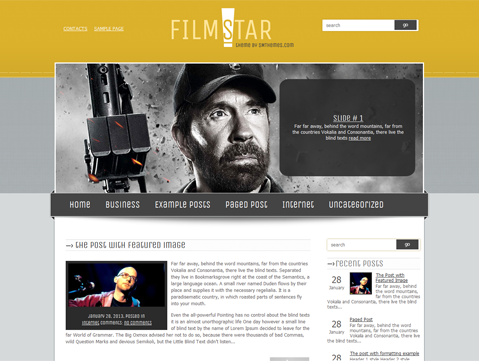 FilmStar Free WordPress Theme