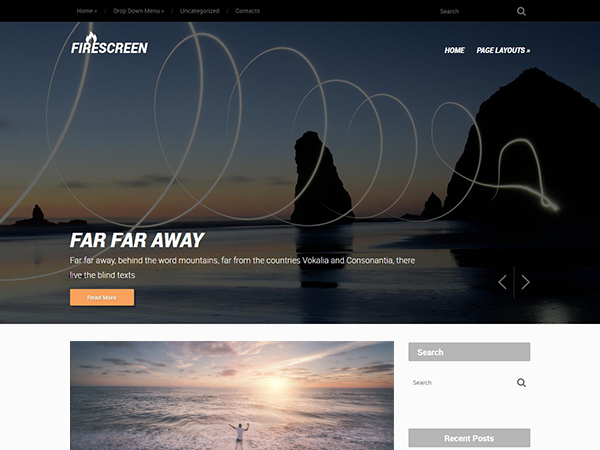 FireScreen Free WordPress Theme