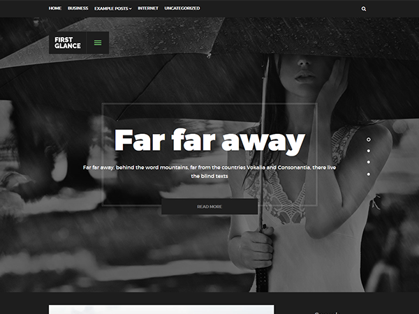 FirstGlance Free WordPress Theme