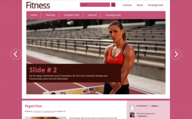 Fitness Free WordPress Theme