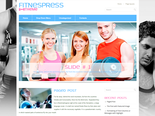 FitnessPress Free WordPress Theme