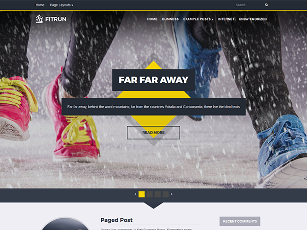FitRun Free WordPress Theme