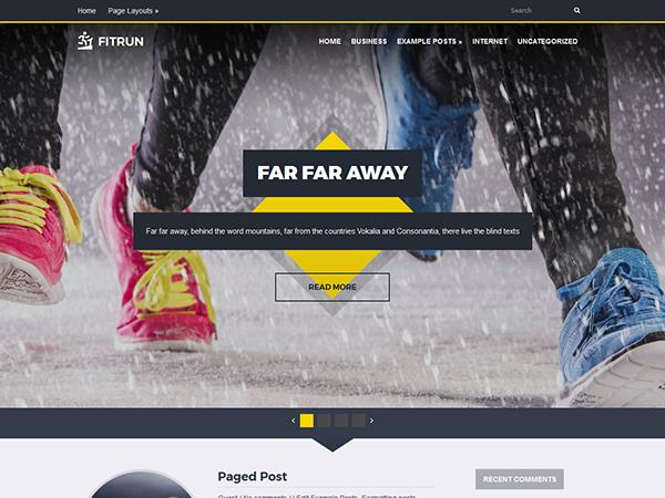 FitRun WordPress Theme