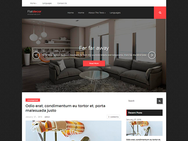 FlatDecor WordPress Theme