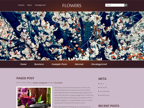 Flowers Free WordPress Theme
