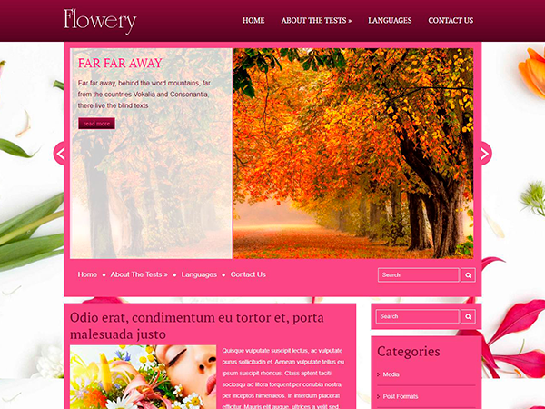 Flowery Free WordPress Theme