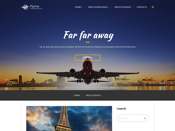 FlyMe Free WordPress Theme