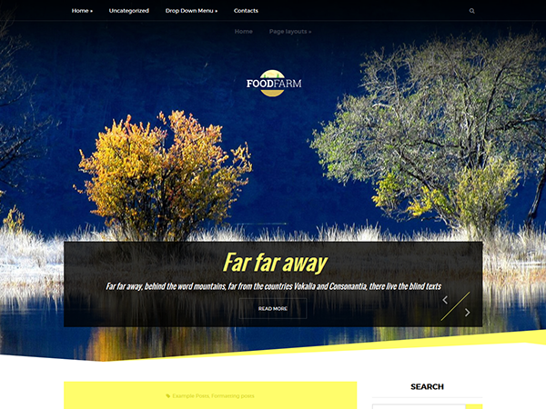FoodFarm Free WordPress Theme