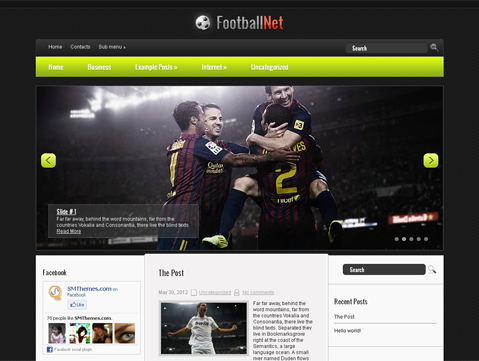 FootballNet Free WordPress Theme