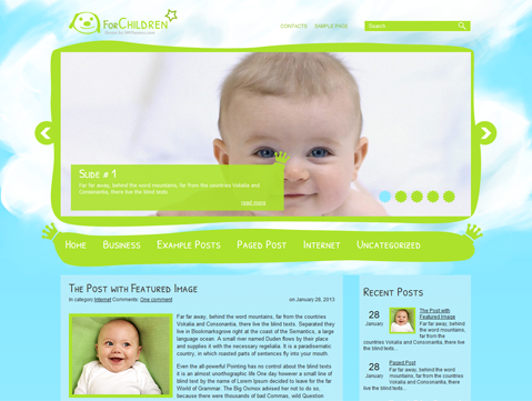 ForChildren Free WordPress Theme