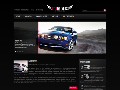 ForDrivers Free WordPress Theme