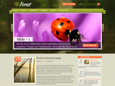 Forest Free WordPress Theme