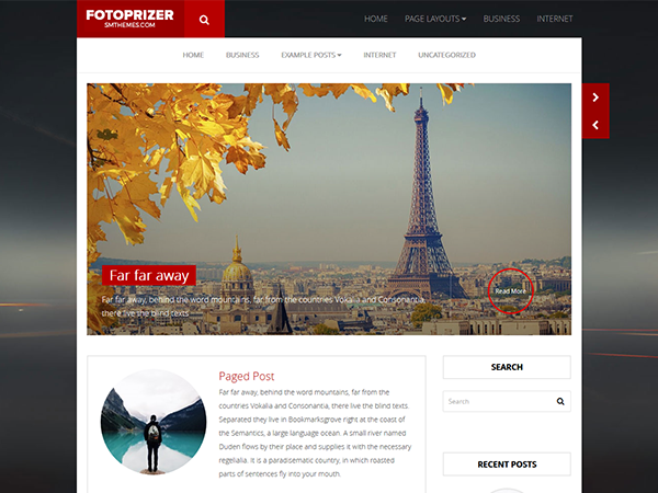 FotoPrizer Free WordPress Theme
