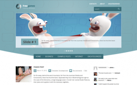 FreeGames Free WordPress Theme