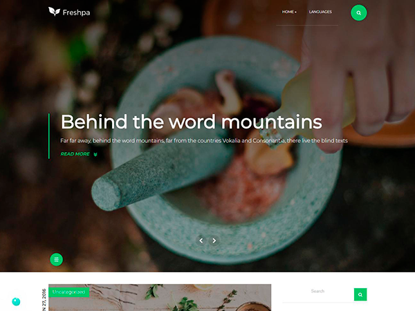 Freshspa WordPress Theme