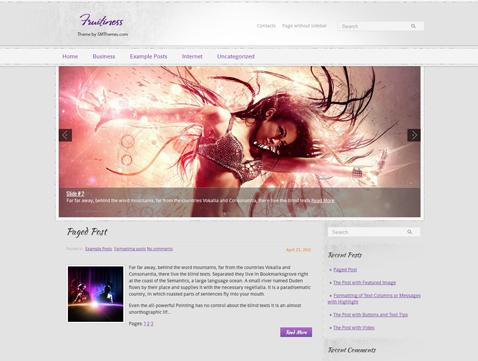 Fruitiness Free WordPress Theme