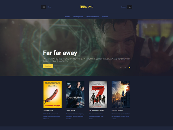FunMovie Free WordPress Theme