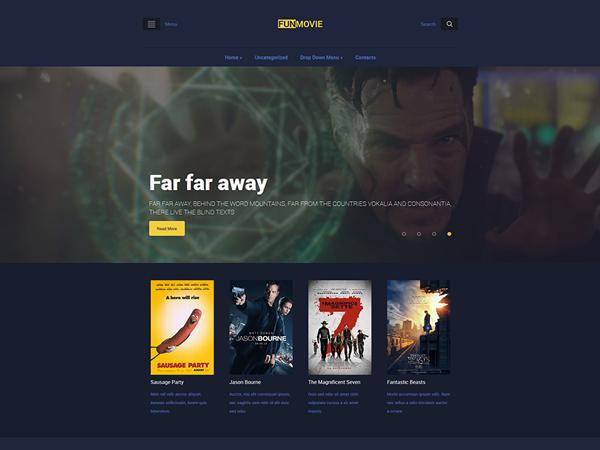 FunMovie Free WordPress Theme
