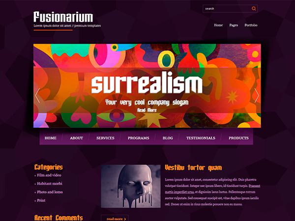 Fusionarium Free WordPress Theme