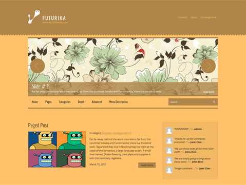 Futurika Free WordPress Theme