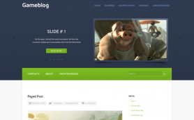 GameBlog Free WordPress Theme