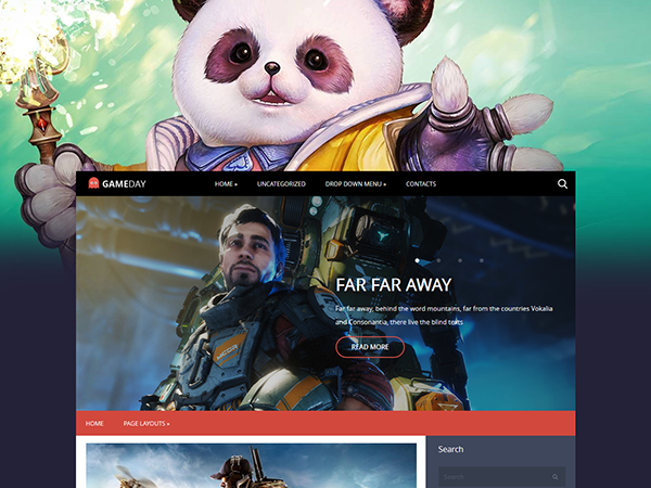 Gameday Free WordPress Theme