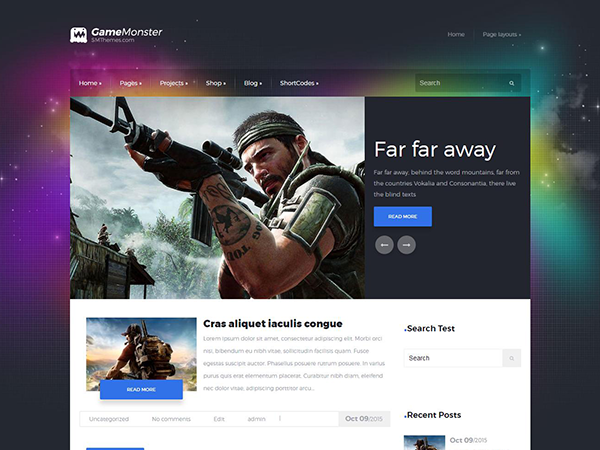 GameMonster Free WordPress Theme