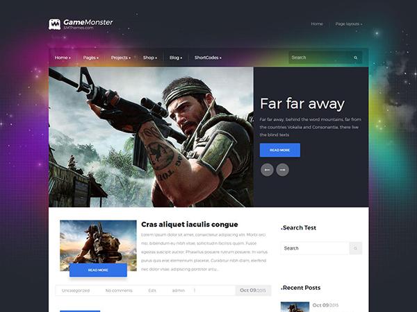 GameMonster WordPress Theme