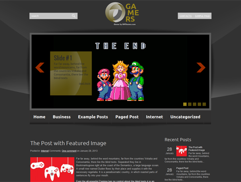 Gamers Free WordPress Theme