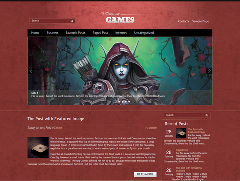 Games Free WordPress Theme