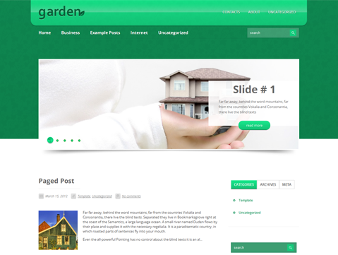 Garden Free WordPress Theme