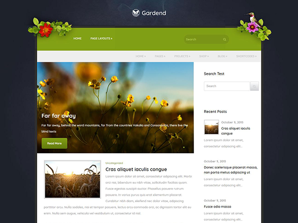 Gardend Free WordPress Theme