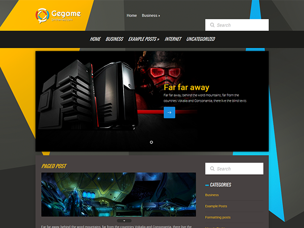 Gegame Free WordPress Theme