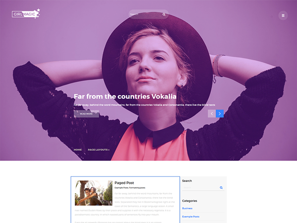 GirlMagic Free WordPress Theme