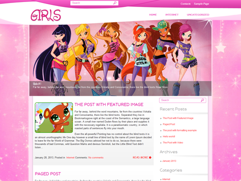 Girls WordPress Theme