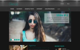 Glance Free WordPress Theme