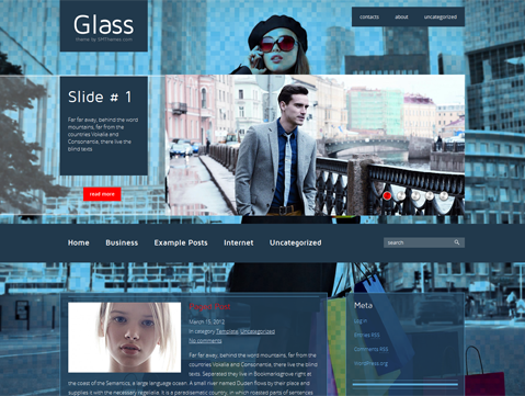 Glass Free WordPress Theme