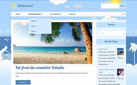 GlobeTravel Free WordPress Theme