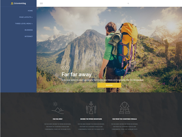 GlobeTrotting Free WordPress Theme