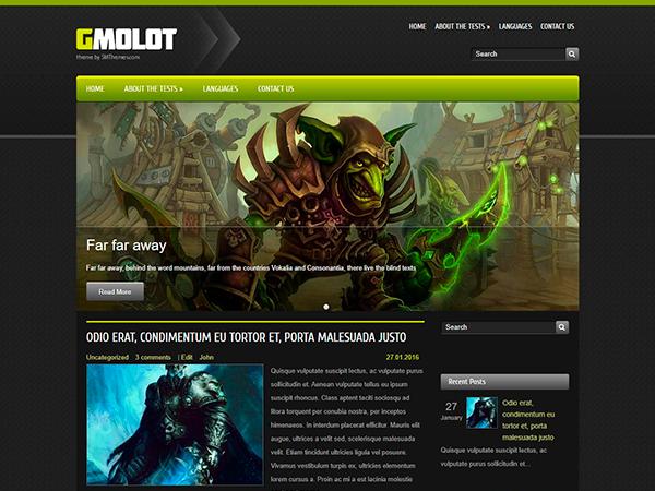 GMolot Free WordPress Theme