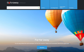 GoFarAway Free WordPress Theme