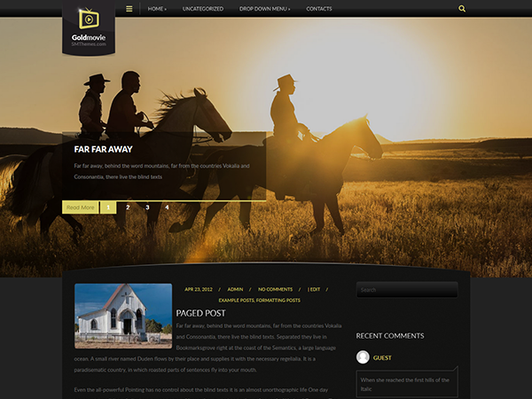 GoldMovie Free WordPress Theme