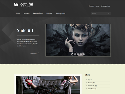 Gothiful WordPress Theme