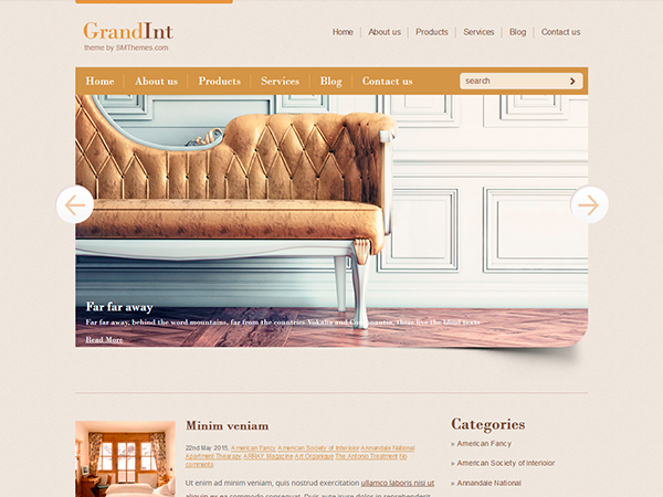 GrandInt WordPress Theme