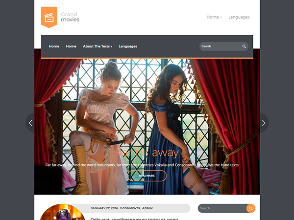 GrandMovies Free WordPress Theme